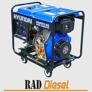 موتور برق دیزلی 5.5 کیلو وات هیوندای